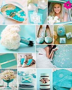 Decoração do casamento na cor: azul Tiffany | Blog da Sofia
