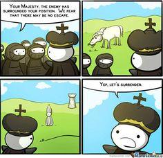A realistic funny take on chess hahaha Cartoon Jokes, Funny Cartoons, Funny Comics, Wtf Funny, Funny Jokes, Hilarious, Chess Tricks, Chess Logo, The Odd 1s Out