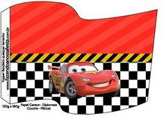 Bandeirinha Sanduiche 2 Carros Disney