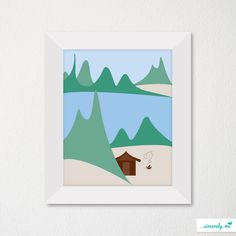 Modern Children's Room Art Print / Nursery Decor / Newborn / Nature Theme / Choice of color. $14.00, via Etsy.