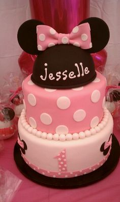 First birthday Minnie mouse theme