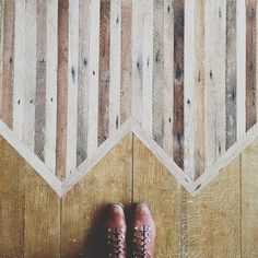 Floor inspiration! Ariel Alasko, girl, you are amazing! Side thought: I need to get out of the burbs and into an house I can rehab with amazing floors like this.