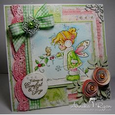 Winter Fairy [SZWS105] - $7.00 : Whimsy Stamps