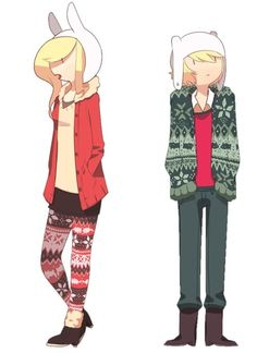 Hipster Fionna & Finn - Adventure Time @Sara Eriksson Holton I love these outfits. They could be our Cosplay