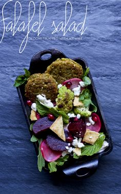 Deconstructed Falafel Salad Recipe | Dine X Design