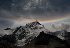 Rainbow Over Mt. Everest // Photography By: Neha Gadhari