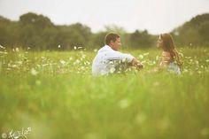 talking in a field of wild flowers. ooh, romantic.