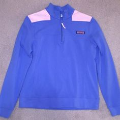 Vineyard Vines Women's Medium Quarter Zip Pullover Like new- only worn a few times. Vineyard vines women's light blue and pink 1/4 zip pullover shep shirt- women's size medium! Great material- perfect for layering for spring and summer! You will love it ☺️ Vineyard Vines Tops Sweatshirts & Hoodies