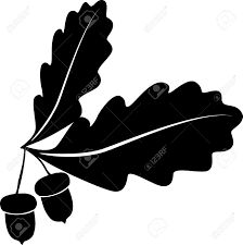 Image result for acorn and oak leaf silhouette