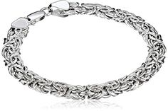 White Gold Byzantine Chain Bracelet, The chain design of this bracelet lends texture with a simple turn of the wrist, courtesy of its interlocking Byzantine design. Love Bracelets, Bangle Bracelets, Jewelry For Her, Fine Jewelry, Fashion Jewelry, Women Jewelry, Fashion Accessories, Jewellery Display, Jewelry Trends