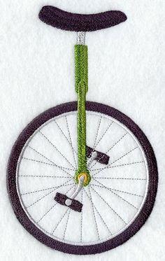 Unicycle embroidery