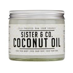 Buy the Sister & Co. Raw Coconut Oil at Oliver Bonas. Enjoy free UK standard delivery for orders over £50.