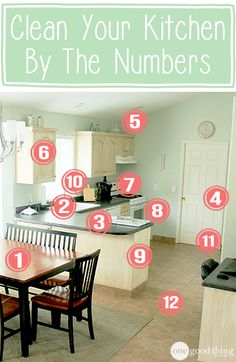 Check out my step-by-step process for a squeaky clean kitchen!