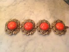 Gorgeous and big gold and coral vintage bracelet!! Love it! $75