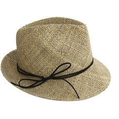 Justine Hats Classic Straw Fedora Hat ($80) ❤ liked on Polyvore featuring accessories, hats, beige, beige hat, beach hat, brim straw hat, straw fedoras and straw hats