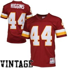 Mitchell   Ness John Riggins Washington Redskins Retired Player Vintage  Jersey - Burgundy ca600d75e