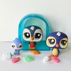 Littlest Pet Shop Cutest Mommy Baby Penguin Family 2495 2496 1494 Snack Time #Hasbro #LPS