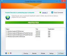Crystal Security 3.5.0.192 es una aplicación robusta y sencilla se utiliza para detectar, neutralizar y eliminar el software malicioso en su ordenador.