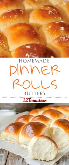 Dinner rolls are a lovely way to round off a meal. They're one of those sides that you don't necessarily think of making to go with your normal, weekly dinner, but they add something special especially when they're as buttery and delicious as these rolls. #Thanksgiving #ThanksgivingRecipes