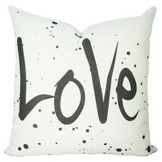 """Handmade linen pillow. Made in the USA exclusively for Joss & Main.  Product: PillowConstruction Material: Linen cover and fiber fillColor: White and blackFeatures:  Handmade by TheWatsonShopZipper closureInsert included Dimensions: Small: 16"""" x 16"""" Medium: 18"""" x 18""""Large: 20"""" x 20"""" Extra Large: 22"""" x 22"""" Cleaning and Care: Dry clean"""