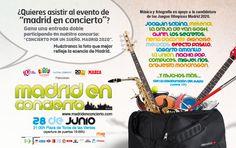Participad en el concurso Concierto por un sueño. Madrid 2020. Tenemos 50 entradas dobles para vosotros para disfrutar de Madrid en Concierto con Sabina, Melendi, La Oreja de Van Gogh y muchos más.