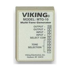 Viking Multi-Tone Generator (VK-MTG-10) - by Viking. $69.83. Viking Multi-Tone GeneratorMulti-tone generator designed to add multiple contact-controlled audio tones to paging system or 600 ohm inputs. Canbe connected to any paging source and can be configured to provide a tone every 15 seconds to notify callers that their conversation is being recorded.. Save 26%!
