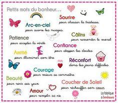petits mots du bonheur by La Fabrique à Bonheurs, via Flickr