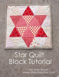 Simple Star quilt block tutorial using 60 degree triangles