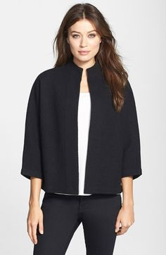 Classiques Entier® 'Libre' Wool Open Front Cardigan available at #Nordstrom