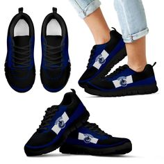Cross Thread Seamless Beautiful Logo Vancouver Canucks Sneakers – Best Funny Store