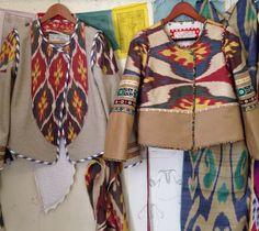 Alix of Bohemia Ikat jackets.