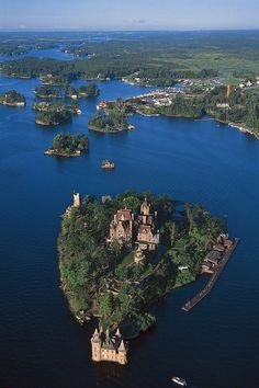 st lawrence river new york  Boldt Castle thousand islands