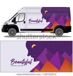Van cargo car wrap vector stock with a beautiful graphic design. file is editable and ready to print Van Design, Special Promotion, Car Wrap, Vector Stock, New Pictures, Royalty Free Photos, Compost, Wrapping, Company Logo