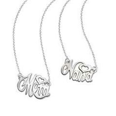 Sterling Silver Mom and Nana Monogram Necklace for $39.99.