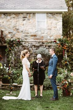 Crossed Keys Estate wedding. Wild forest ceremony arbor. Pat Furey Photography.
