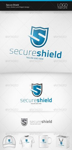 Secure Shield - Logo Design Template Vector #logotype Download it here: http://graphicriver.net/item/secure-shield-logo/1481324?s_rank=573?ref=nexion
