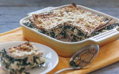 Spinach and Feta Matzoh Pie // Here's a quick and easy casserole based on the Greek classic spanakopita that replaces phyllo dough with matzoh crackers. If you like, you can stir 1/4 teaspoon grated nutmeg and 3 tablespoons chopped fresh dill into the spinach mixture for a richer flavor.