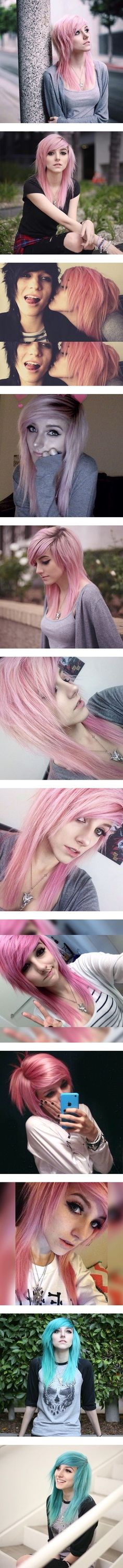 ▬ Alex Dorame ▬ – Women's jewelry and accessories- ▬ Alex D… – Emo fashion Dyed Hair Pastel, Pink Hair, Pelo Emo, Alex Dorame, Emo Scene Hair, Cute Emo, Alternative Hair, Punk, Scene Girls