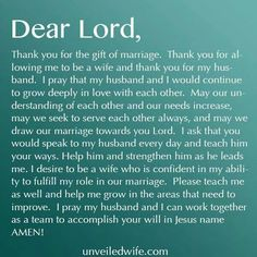 Marriage prayer