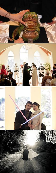I like Star Wars, but I will NEVER have a wedding like this,