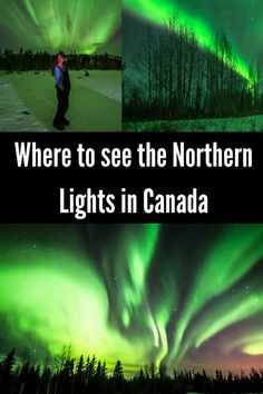 Unforgettable views in the most beautiful places in Canada. This is the most epic Canada bucket list! They'll stop you in your tracks, put a smile on your face, or simply make you gasp with wonder. Beautiful places in Canada Northern Lights Canada, Northern Lights Trips, See The Northern Lights, Northern Lights Michigan, Northern Lights Viewing, Rocky Mountains, British Columbia, Quebec, Cool Places To Visit