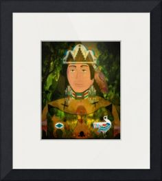 """""""Mother Earth"""" by Sharon Sims, Palm Harbor // Native American Folk Art // Imagekind.com -- Buy stunning fine art prints, framed prints and canvas prints directly from independent working artists and photographers."""