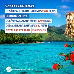 Essa é para aproveitar, conheça dois países pelo preço de uma passagem!  https://www.passagemaerea.com.br/bahamas-nassau.html  #nassau #bahamas #caribe #passagemaerea #miami