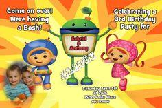 Card: Team Umizoomi Birthday Invitations