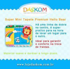 Super Mini Tapete Premium Hello Bear Parklon - Indicamos para troca de fralda, pois devemos ter todo o cuidado com a higiene do bebê quando não estamos em casa. Nas seguintes medidas: 35cm x 28cm e com 1,2cm, muito macio!!