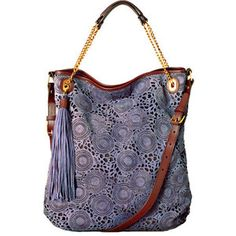 Lace Crochet Hobo :  chic carry bag accessories hobo