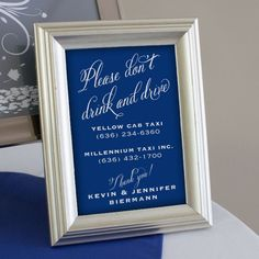wedding sign dont drink and drive - Google Search
