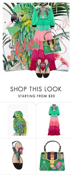 """""""Parrots! ♥"""" by kari-c ❤ liked on Polyvore featuring Nika, Gucci and Valentino"""