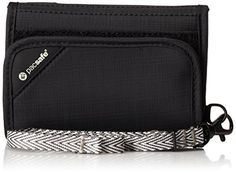 Pacsafe RFIDsafe V125 AntiTheft RFID Blocking TriFold Wallet Black * Check out the image by visiting the link. (Note:Amazon affiliate link)