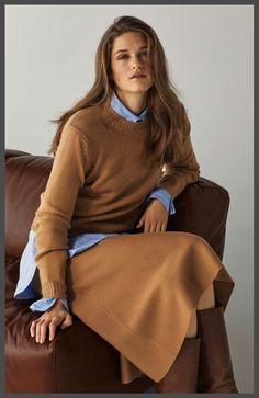 Camel - um diese Farbe dreht sich alles bei der neuen Rosso35 HW20 Kollektion. Hier eine unserer Liebelingslooks - der A-förmige Midirock kombiniert mit einem schmalen Rundhalspulli. Shop online auf www.strauch.at Cream Outfits, Shops, Rock, Chic Outfits, Dress Skirt, Boho Chic, Saint Laurent, Bell Sleeve Top, Turtle Neck